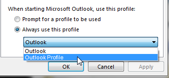 Windows default profile setup
