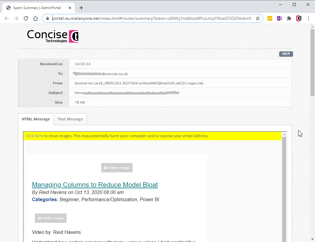 concise-email-filtering-web-portal